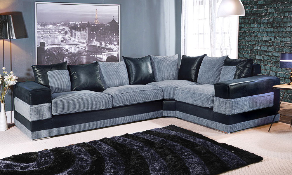 dfs corner sofa grey fabric click clack furniture and cuddle chair couch verana chaise ...
