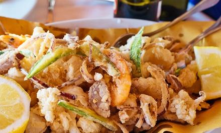Menu con un kg di fritto misto e calice di vino per 2 o 4 persone al ristorante Lo Chalet (sconto fino a 74%)