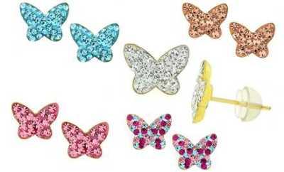 Kids' Butterfly Studs with Swarovski Elements | Groupon Goods | AprilNoelle.com