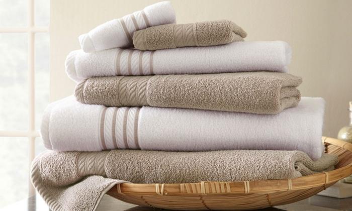 6-Piece Quick-Dry Towel Set | Groupon Goods