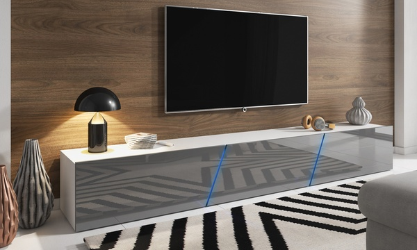 meuble tv led alamara 160 ou 240 cm