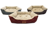 AKC Sherpa Cuddler Pet Bed | Groupon