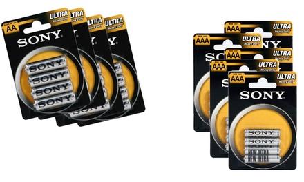 Fino a 76 pile Sony stilo AA o ministilo AAA disponibili in vari pack