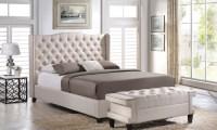 Tufted Wingback Platform Bed   Groupon Goods