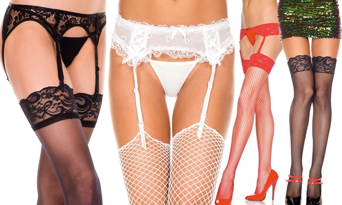 Sexy Garter Belts And Stockings Groupon Goods