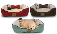 AKC Pet Bed Set with Pillow and Blanket