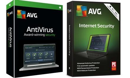 AVG Anti virus ou Internet Security 2019 pour 3 PC pour 2 ans
