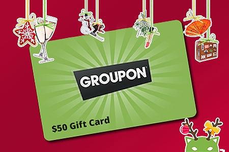 50 Groupon Christmas Gift Card Groupon Goods