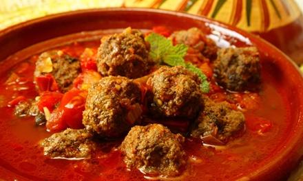 Menu tipico marocchino con antipasto, primo, secondo, dolce e tè caldo al locale Piatto Rouge (sconto fino a 61%)