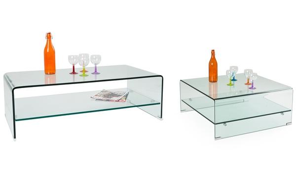 tables basses et gigognes en verre trempe transparent differents modeles au choix