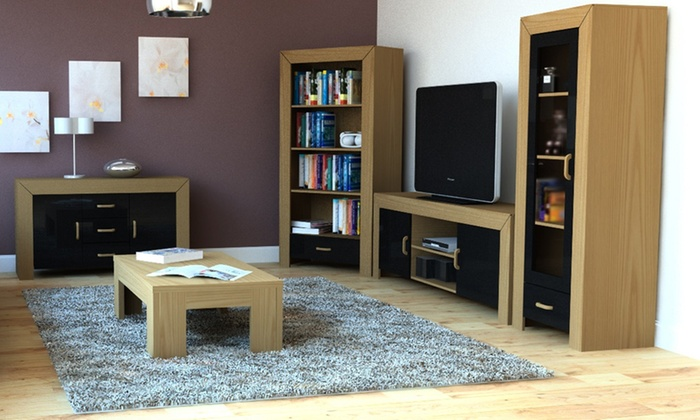 living room furniture black gloss best carpet groupon goods