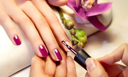 Mani Pedi services with optional eyebrow threading or waxing at Eternal Lotus Ladies Salon and Spa