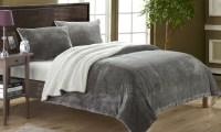 3-Piece Sherpa Comforter Set   Groupon Goods