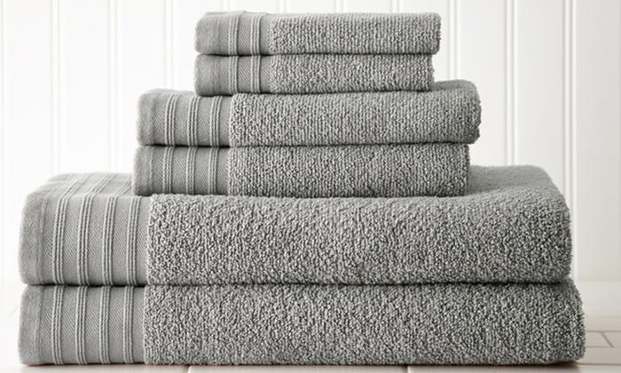 Quick-Drying Cotton Towel Set | Groupon Goods