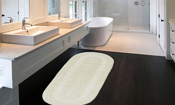 ExtraLarge 24x60 Double Vanity Reversible Cotton Bath Rugs  Groupon