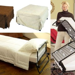 Folding Ottoman Single Sofa Bed Review Best Beds Nyc Groupon
