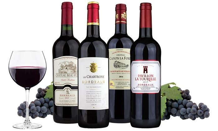 4 Bottles of Bordeaux - Wine Insiders | Groupon