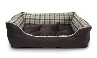 AKC Gingham Cuddler Pet Bed | Groupon
