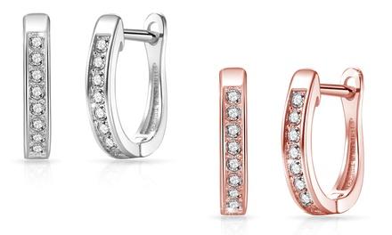 1 o 2 paia di orecchini Channel Set Philip Jones con cristalli Swarovski® disponibili in 2 colori