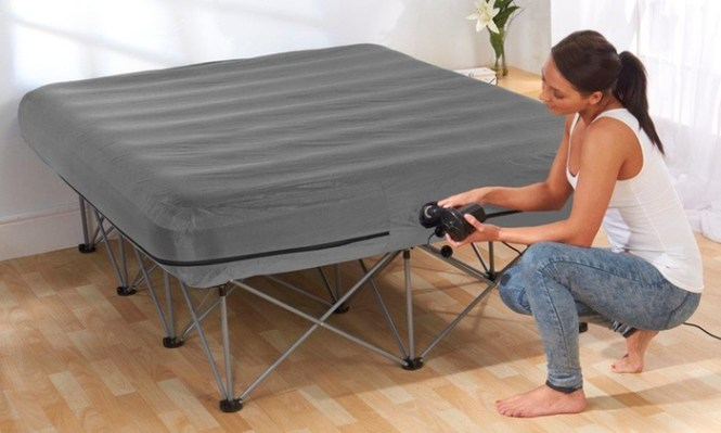 Groupon Goods Global Gmbh Inflatable Double Bed With Frame For 79 Free Delivery