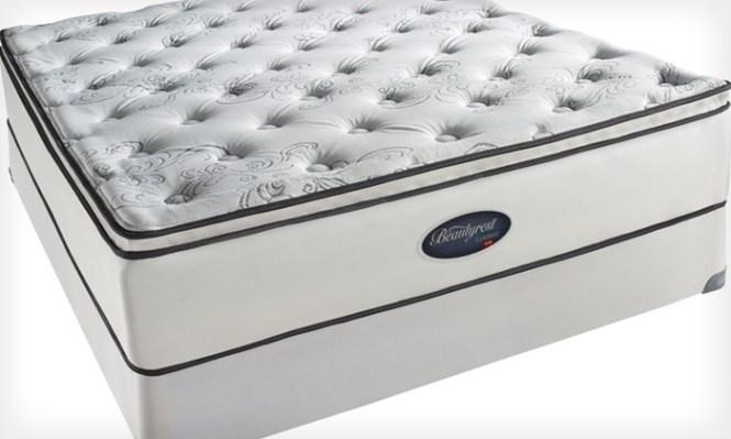 Simmons Beautyrest Plush Pillowtop Mattress Set Pillow Top Up