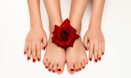 Gel Polish Removal, Choice of Mani Pedi or Nail Extensions at Manuella Ladies Beauty Salon (Up to 74% Off*)