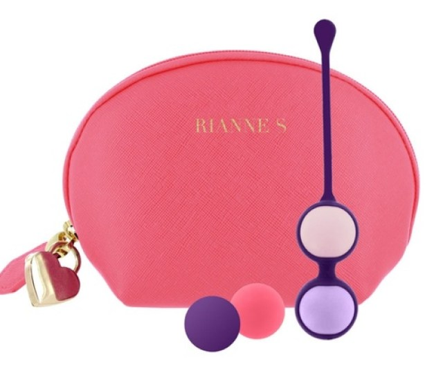Rianne S Weighted Kegel Balls With Cosmetic Bag