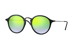 image for Ray-Ban Round Fleck Unisex Sunglasses with Acetate Frame