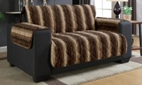 Fur Sofa Faux Fur Sofas Fluffy Multi Pillowed Cloud