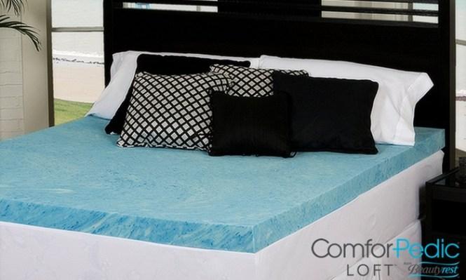 Comforpedic Loft 2 Comfort Gel Memory Foam Mattress Topper From Beautyrest
