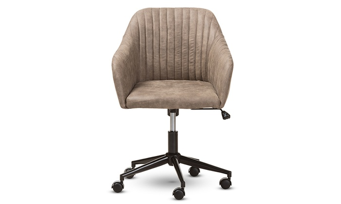 desk chair groupon ikea office chairs maida fabric upholstered