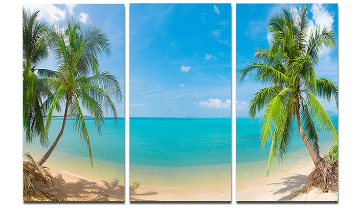 Up To 35% Off On Tropical Beach With Coconut T