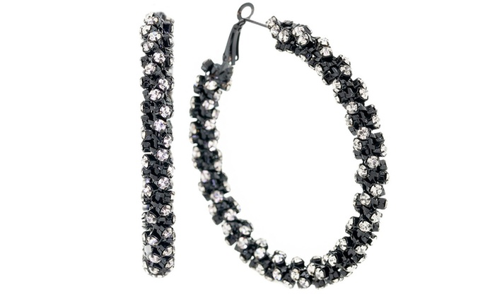 Up To 60% Off on Twisted Hoop Earrings with Sw