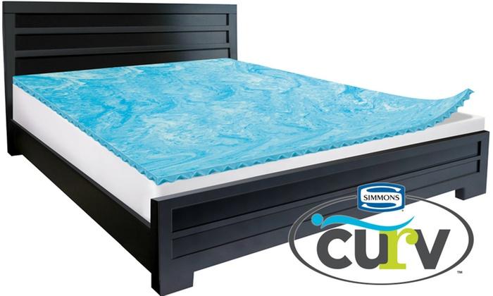 simmons curv 1 5 reversible gel memory foam topper