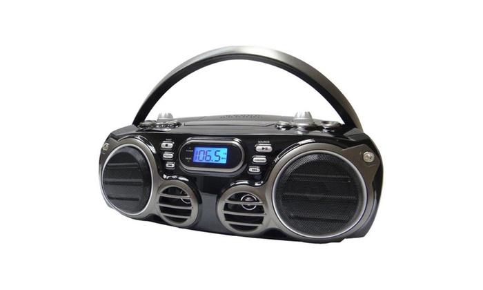 sylvania srcd682bt bluetooth portable