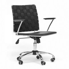 Desk Chair Groupon Couch Loveseat And Covers Vittoria Leather Modern Office