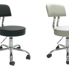 Used Brookstone Massage Chair Portable High Chicco Apontus Rolling Salon Stool W/ Back Rest Children   Groupon