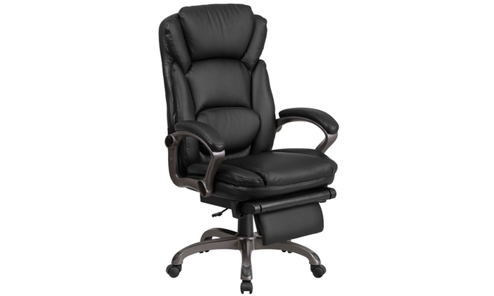 desk chair groupon swing in pakistan black reclining office