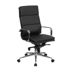 Desk Chair Groupon Black Tufted Dining Flash Furniture High Back Leather Executive Swivel Office
