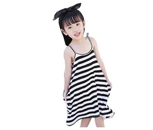 Ding Dong Kid Baby Girls Striped Sleeveless Dress