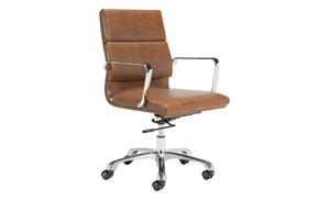 office chair customer reviews rocking conversion kit up to 33 off on ithaca vintage b groupon goods brown