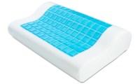 Ergonomic Cooling-Gel Antimicrobial Memory-Foam Pillow ...