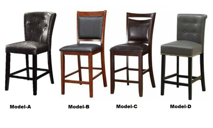 high chair that attaches to counter costco mat 2pc leather height stools 24 seat chairs bar sold by furniture for sale
