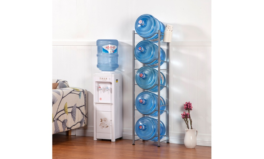 3 4 5 tier water bottle storage rack stainless steel heavy duty water jug rack