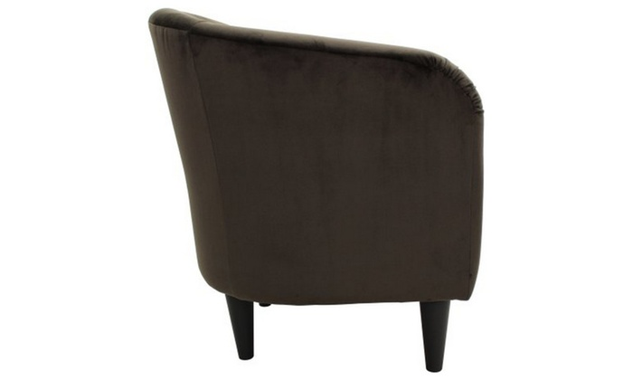 tub accent chair infant high chairs mainstays microfiber groupon