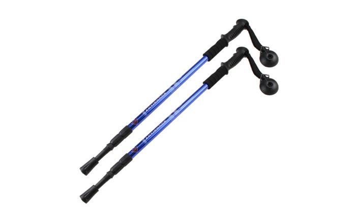 Alpenstock Adjustable telescoping Pair 2 Trekking Hiking