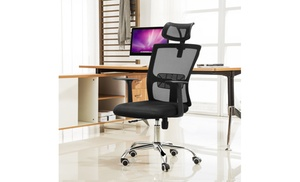 office chair customer reviews waiting room chairs cheap up to 29 off on 44 50 360 degre groupon goods degree swivel mesh computer desk w headrest