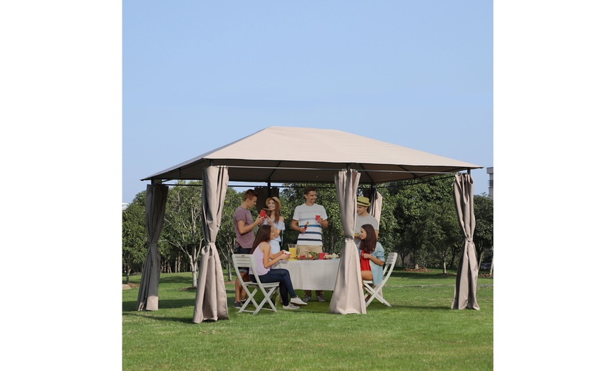 https www groupon com deals gg mp laggra 13 x 10 steel outdoor patio gazebo pavilion canopy tent w curtains
