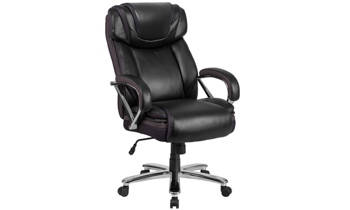 500 lb office chair steel gaming lb. capacity big & tall leather with extra wide seat | groupon