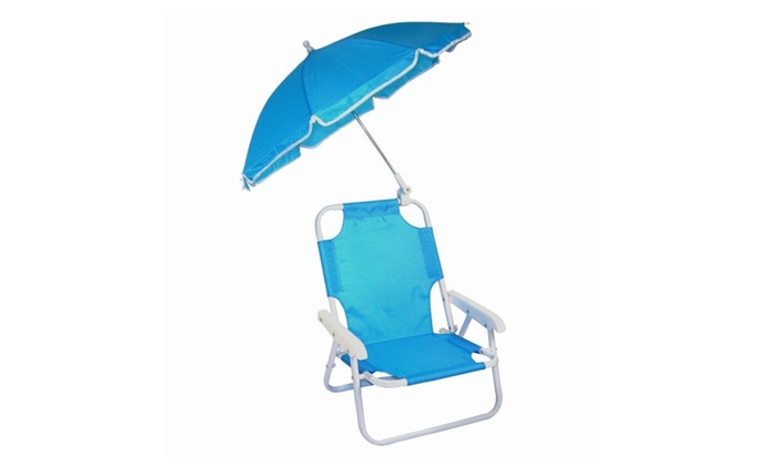 kids beach chair with adjustable umbrella mega motion lift customer service baby in blue lightweight and